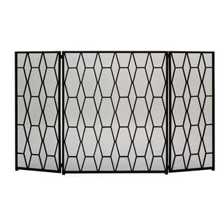 Natural Iron 51-inch x 31-inch Striking Fire Screen