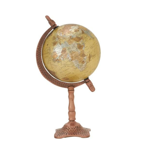 Natural Metal/PVC 7-inch x 13-inch Desktop Globe
