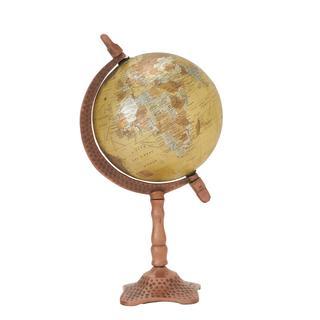 Natural Metal/PVC 7-inch x 13-inch Desktop Globe