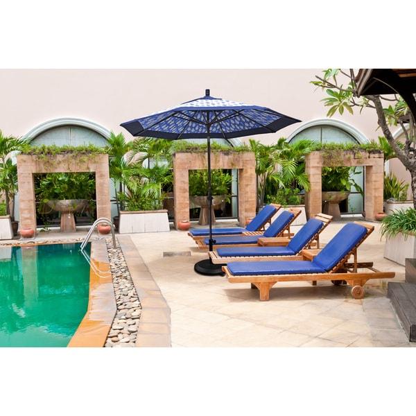 California Umbrella 9' Rd. Aluminum/Fiberglass Rib Market Umb, Deluxe Crank Lift/Collar Tilt, Black Finish, Pacifica Fabric 19214567
