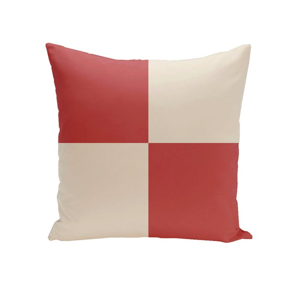16 x 16-inch Holiday Brights Collection Geometric Outdoor Pillow