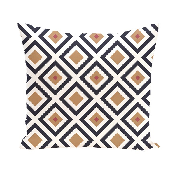 16 x 16-inch Diamond Mayhem Geometric Print Outdoor Pillow