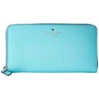 Kate Spade New York Cedar Street Lacey Atoll Blue Leather Wallet