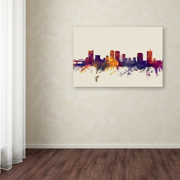Michael Tompsett 'Fort Worth Texas Skyline' Canvas Art