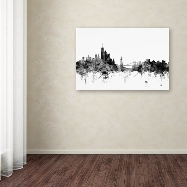 Michael Tompsett 'New York Skyline B&W' Canvas Art - Multi 19219203