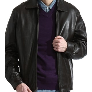 Tanners Avenue Men's Dean Black Lamb Leather Jacket