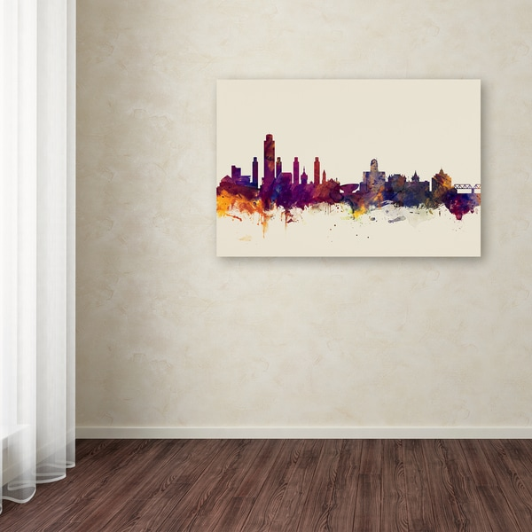 Michael Tompsett 'Albany New York Skyline' Canvas Art