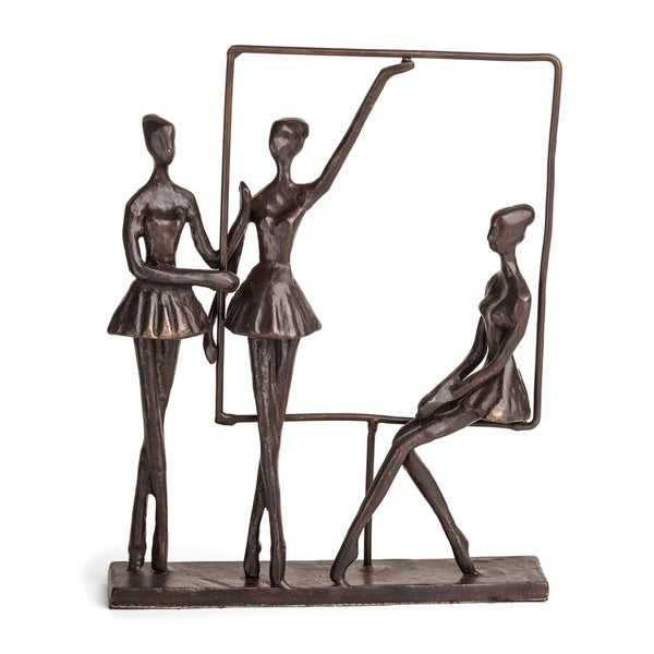 Danya B Ballerinas on Frame Bronze Sculpture