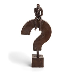 Danya B Questioning Man Iron Sculpture