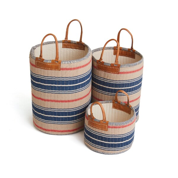 Hip Vintage Goodman Baskets (Set of 3)