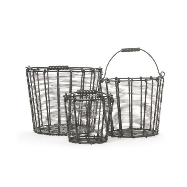 Set of Three Chicken Baskets
