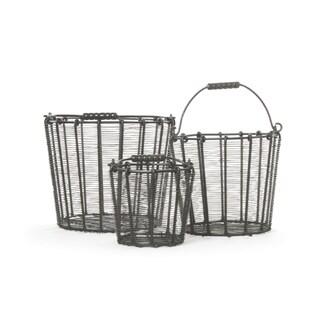 Hip Vintage Three-Piece Wire Basket Set