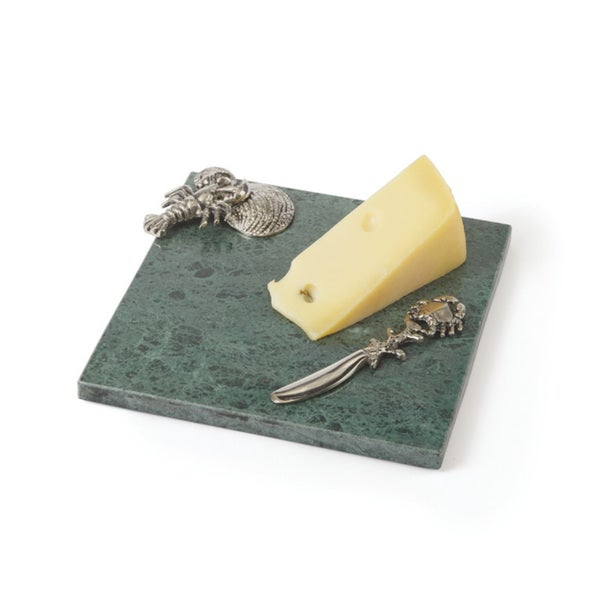 Hip Vintage Wyatt Cheese Platter and Knife
