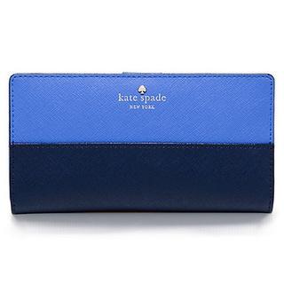 Kate Spade New York Cedar Street Stacy Ocean Blue/Adventure Blue Leather Continental Bi-fold Wallet