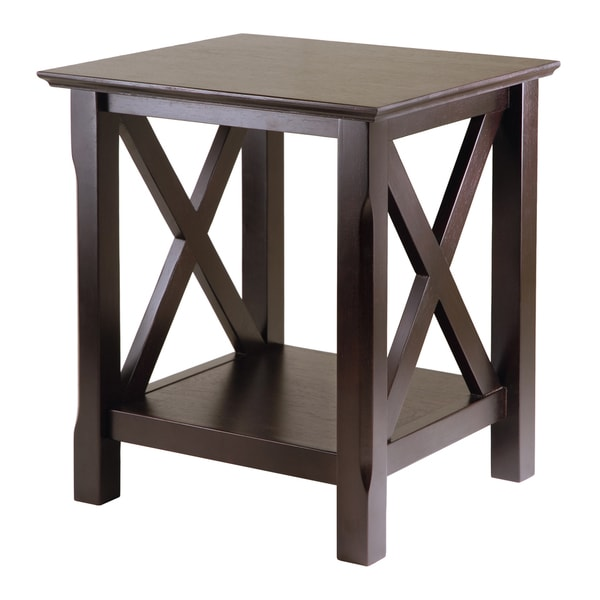 Winsome Xola Cappuccino Wood Home Decorative X-design End Table