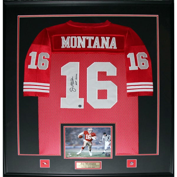 Joe Montana San Francisco 49ers Signed Framed Jersey