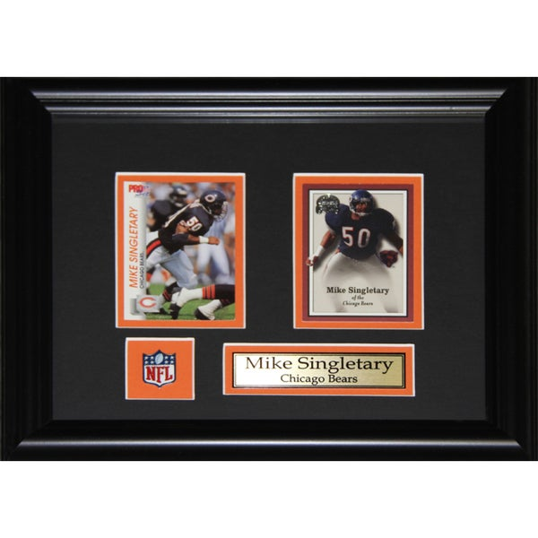 Mike Singletary Chicago Bears 2-card Frame