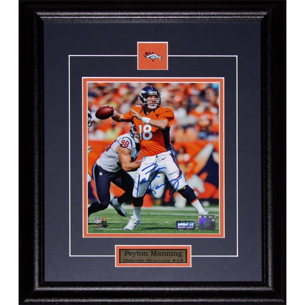 Denver Broncos Peyton Manning Signed 8-inch x 10-inch Framed Wall Plaque