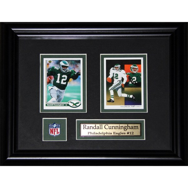 Randal Cunningham Philadelphia Eagles 2-card Frame