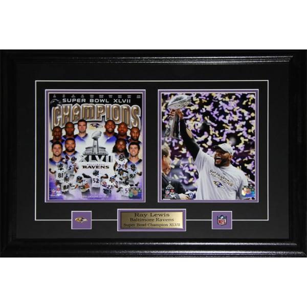 Ray Lewis Baltimore Ravens Superbowl XLVII 2-photo Frame 19220342