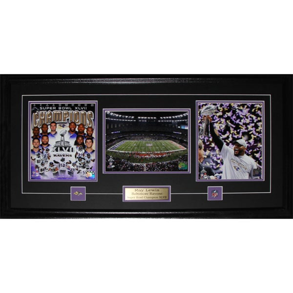 Ray Lewis Baltimore Ravens Superbowl XLVII 3-photo Frame