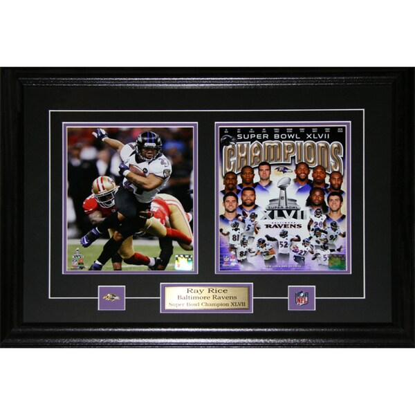Ray Rice Baltimore Ravens Superbowl XLVII Two-photo Frame 19220346