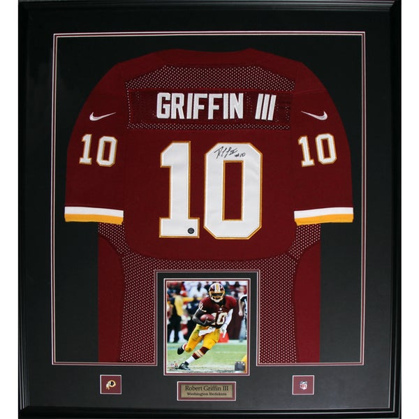 Washington Redskins Robert Griffin III Framed Signed Jersey