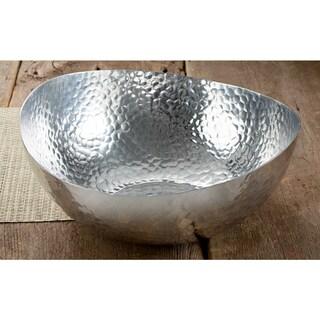 14-inch Hammered Oblong Aluminum Bowl