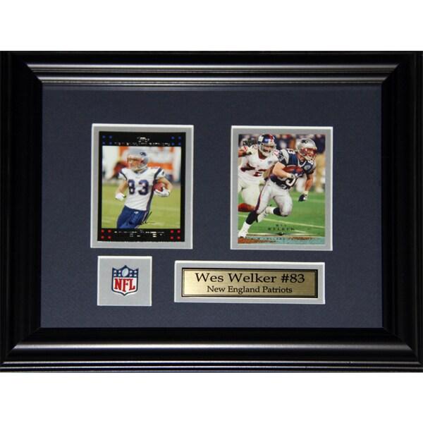 Wes Welker New England Patriots 2-card Frame