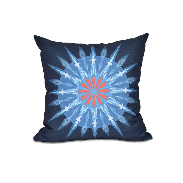 16 x 16-inch Sea Wheel Geometric Print Outdoor Pillow