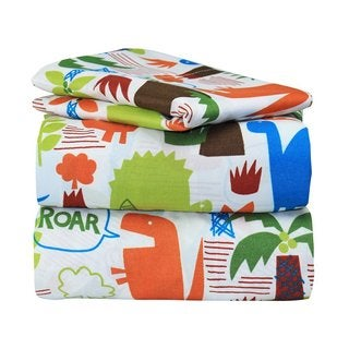 Dinosaur Jungle Twin Sheet Set