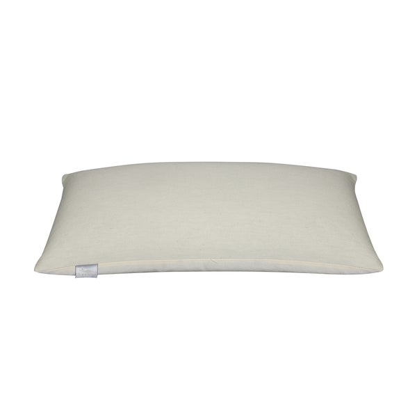Bucky Natural White Fabric Travel Bed Pillow