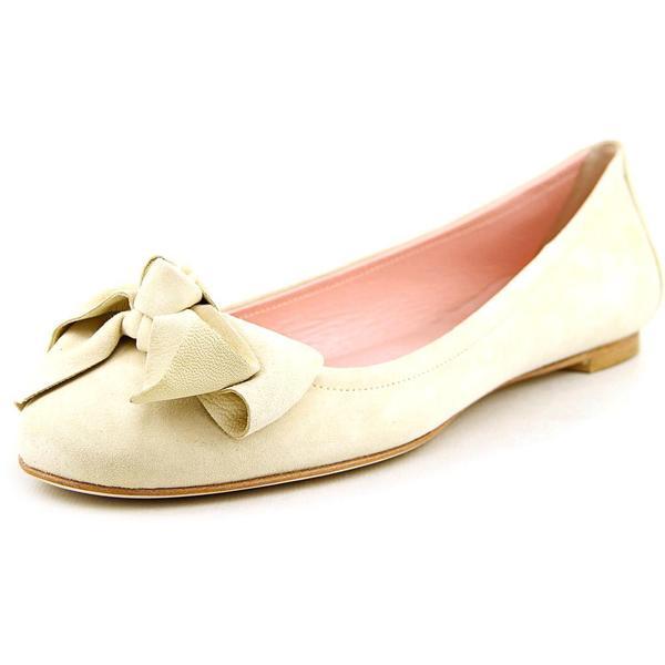 Modern Fiction Women's Beige Suede Ballerina Dress Shoes