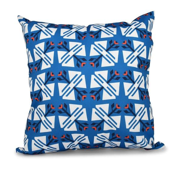 16 x 16-inch Jodhpur Ditsy Geometric Print Outdoor Pillow