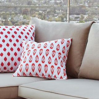 16 x 16-inch Ikat Tears Geometric Print Outdoor Pillow