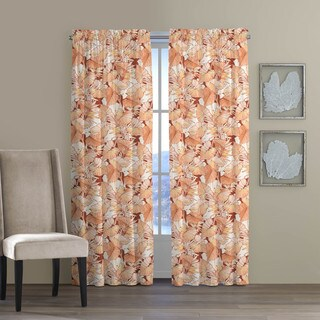 Tommy Bahama Canopy Way Coral Cotton Curtain Panel Set