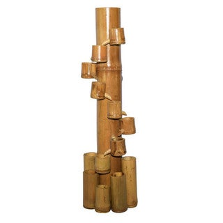 Bamboo 54 Tan Cascading Water Fountain