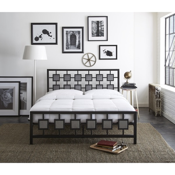 Sleep Sync Amber Metal Platform Bed