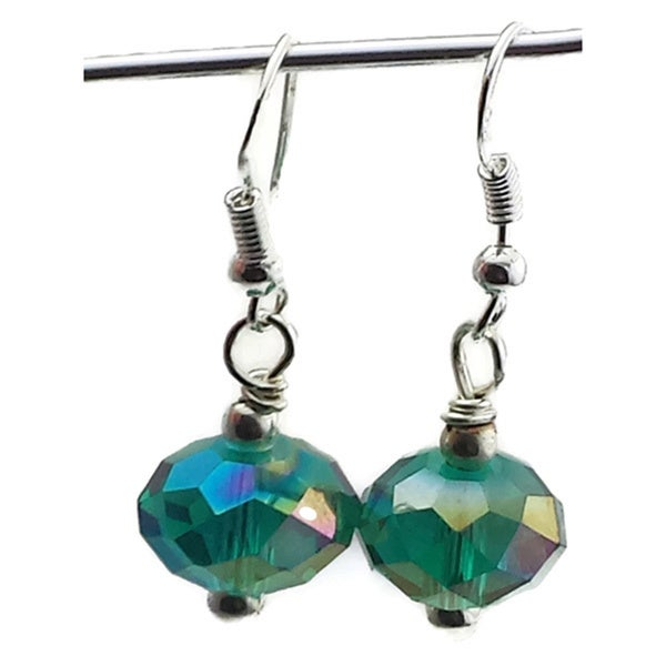 Mama Designs Sterling Silver Handmade Beaded Drop-style Earrings 19222821