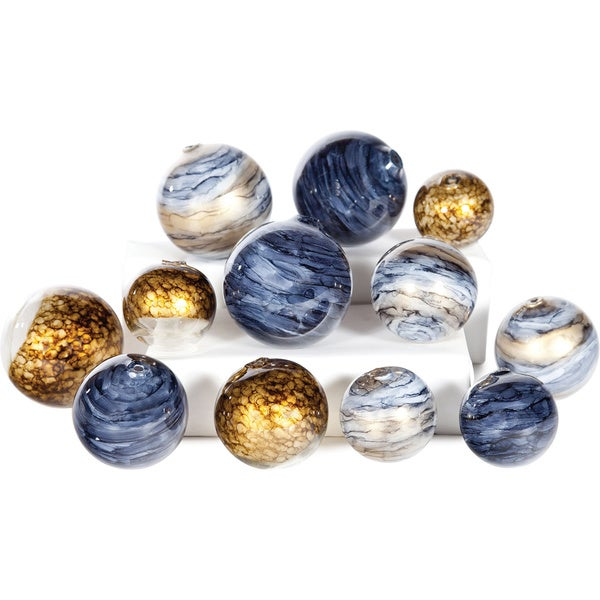 Glass Spheres Set of 12
