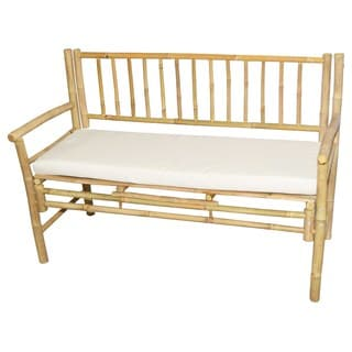 Bamboo Cushioned Bench