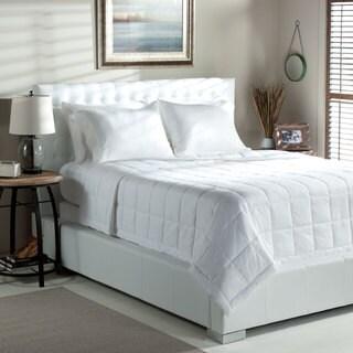 Oversized 300 Thread Count Luxury PrimaLoft Down Alternative Damask Lightweight Summer Blanket
