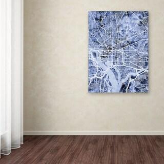 Michael Tompsett 'Washington DC Street Map B&W' Canvas Art