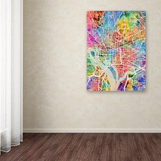 Michael Tompsett 'Washington DC Street Map' Canvas Art