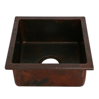 Unikwities Oil Rubbed Bronze Copper Undermount Vegetable/Bar Sink