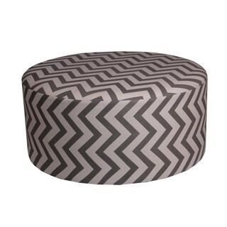 Privilege Transitional Brown/Off-white 36-inch Round Ottoman
