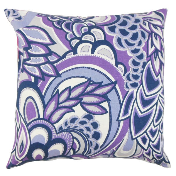 Michal Floral Throw Pillow Cover