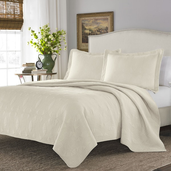 Stone Cottage Arbor Ivory Cotton Quilt Set