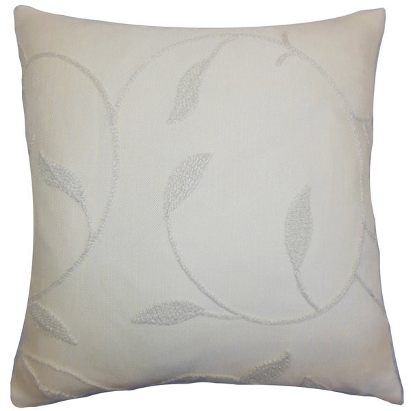 Delyth Floral Throw Pillow Cover Vanilla