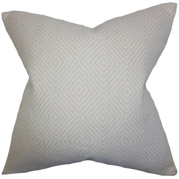 Narva Geometric Throw Pillow Cover Ecru